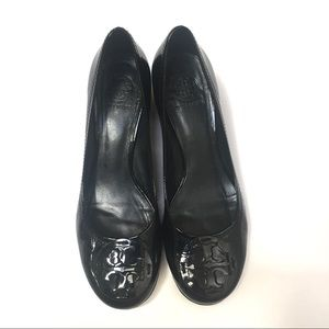 Tory Burch Amy Patent Leather Pump All Black